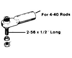 DBR369 2-56 Swivel Ball Link/4-40 Rod (1 pc per pack)