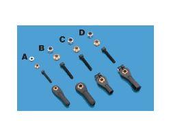 DBR2135 2-56 Swivel Ball Link w/Hardwr (2 pcs per pack)