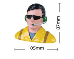 PHA-80035B Phoenix painted 1/6 scale civilian pilot w/glasses