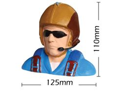 PHA-80034A Phoenix paint 1/5 scale civil pilot w/headphones
