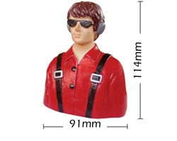 PHA-80024C Phoenix 1/7 scale civilian tall pilot w/headphones