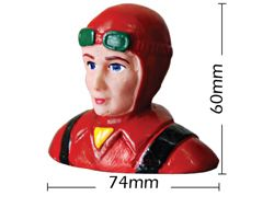 PHA-80017A Phoenix 1/8 scale civillian pilot with helmut