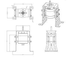 11737618 A30/A40-Alu-Motormount