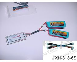 YH-3+3-6S Connector 2x3s lipo 1x6s lipo batt lead adaptor