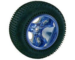 RPM81505 Clawz blue chrome 6 spoke asc rear 3/16