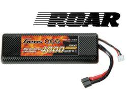 ACE-4000225H Lipo 4000mah 25c hard case (roar approved)