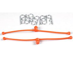 DBR2252 Body Klip Retainers (Orange) 2pcs