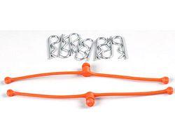 DBR2252 Body Klip Retainers (Orange) 2pcs