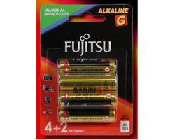 LR6G/BP6 Fujitsu 'AA' size 'G' Series Alkaline 6pk