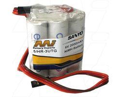 5/3UTG SQ W/JR 6 volt enerloop aa square pack w/ lead jr plug