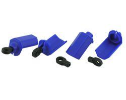 RPM80405 Blue Shock Shaft Guards Traxxas