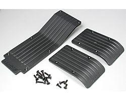 RPM80112 T/e- maxx skid/ wear plate set (black)