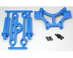 RPM80165 T/e- maxx shock tower blue