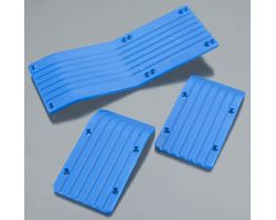 RPM80775 T/E-Maxx 3 Skid Plate Set - Blue - 3905/4908