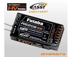FUTR6208SB Futaba 2.4g Receiver 8 Channel High Res