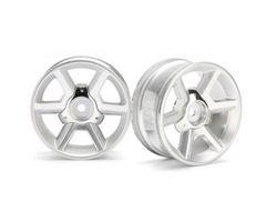 HPI-33471 Gt wheel silver (6mm offset / 2pcs)