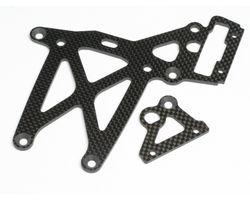 HPI-87453 Rear upper plate set (woven graphite/baja 5b)