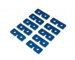 QUK002B Servo Retaining Plates Blue