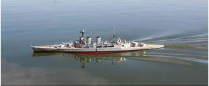 GRP2096 BATTLESHIP H.M.S HOOD 1750mm Hull Length