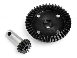 HPI-86922  machined heavy duty bevel gear 43t / 13t set