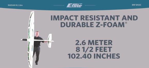 Eflite radian bnf glider electric perth rc hobby shop
