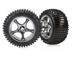 "38-2470R Tracer 2.2"" chrome wheels, Alias 2.2"" tires (AKA TRX2470R)"