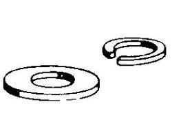 DBR650 1/4-20 Flat washer (8 pcs per pack)