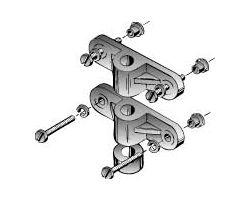 DBR156 Nylon Gear Block Set (2 pcs per pack)