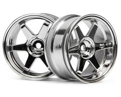 HPI-3847  HPI te37 wheel 26mm chrome 6mm offset