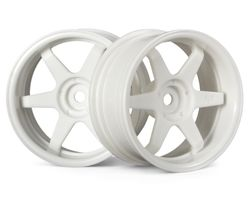 HPI-3845  HPI te37 wheel 26mm white 6mm offset