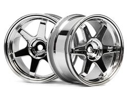 HPI-3842  HPI te37 wheel 26mm chrome 3mm offset