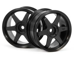 HPI-3836  HPI te37 wheel 26mm black 0mm offset