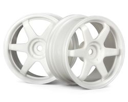 HPI-3835  HPI te37 wheel 26mm white 0mm offset