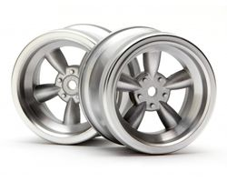 HPI-3820  Vintage 5 spoke 31mm matt chrome 6mm Offset VTA