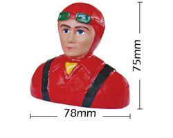 PHA-80017B Phoenix 1/8 scale civillian  pilot  leather helmut