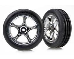 "38-2471R Tires & wheels, assembled Tracer 2.2"" chrome wheel (AKA TRX2471R)"
