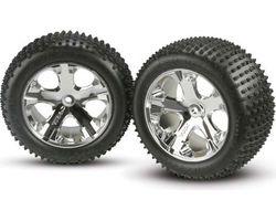 38-3770 Alias Tires Mounted on Chrome All-Star Rims, Rear  (AKA TRX3770)