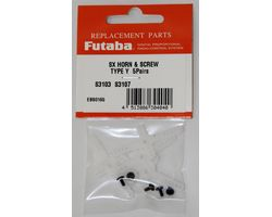 FUTSHRNS3103Y Servo Horn For S3103/3107 Y(Cross) 5pcs/pack