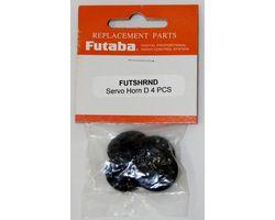 """FUTSHRND """"FUTABA servo horn d 4pc"""