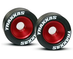 38-5186 Rubber tyres mounted on red wheelie bar wheels (AKA TRX5186)