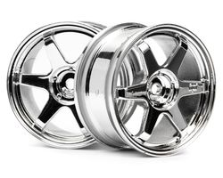 HPI-3837  HPI te37 wheel 26mm chrome 0mm offset