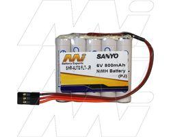 5/HR-3UTG FLT-JR 6V 2000mAh NiMH Battery C/W JR Plug