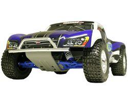 RPM80953 Front Bumper&Skid Plate for Traxxas Slash - Chrome