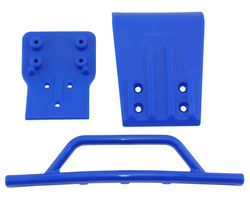 RPM80025 Blue Front Bumper & Skid Plate - Slash 4x4