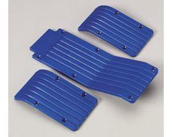 RPM80115 T/e- maxx skid/ wear plate set (blue)