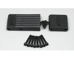 RPM80152 T/e- maxx bulkhead braces- black