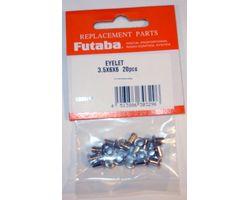 FUTSILET366 Servo Eyelet 3.5Dx6Dx6L 20pcs/pack 9152/9