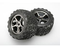 38-5374X 2 talon tyre/gemini blackchrome wheel revo 17mm (AKA TRX5374X)