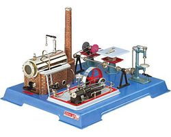 W00161 WILESCO D161 STEAM ENGINE WITH ACCESSORIES