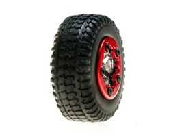 LOSB1583 Tires, mounted, chrome: micro sct(4)
